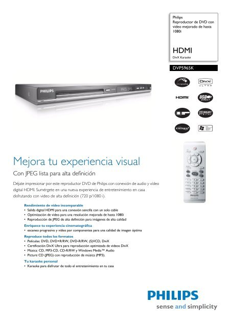 Philips DVP5965K/55 DVD Player Drivers for Windows XP