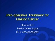 Adjuvant and Neoadjuvant Therapy for Gastric Cancer - BC Cancer ...