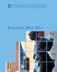2012-2013 Bulletin – PDF - SEAS Bulletin - Columbia University