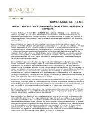 Télécharger le communiqué de presse (PDF 142 KB) - Iamgold