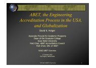 ABET, the Engineering Accreditation Process in the USA ... - NVAO