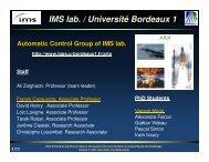 IMS lab. / Université Bordeaux 1