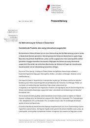 Pressemitteilung (pdf, 54 kb) - Präsenz Schweiz