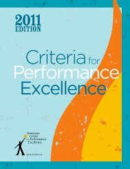 EDITION - Tennessee Center for Performance Excellence