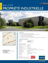 PROPRIÉTÉ INDUSTRIELLE - Colliers International