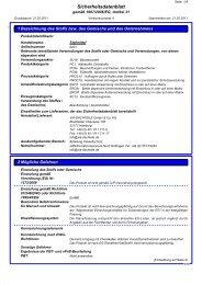Sicherheitsdatenblatt QuiTex Stellmittel - via-Dachteile
