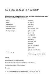 KG Berlin, 06.12.2012, 1 W 295/11 - Wolters Kluwer Deutschland ...