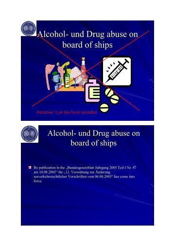 Alcohol- und Drug abuse on board of ships - VHT
