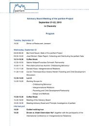 Advisory Board Meeting of the pairfam-Project September 21-22 ...