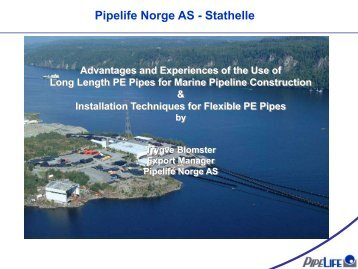 Long Length Pipes and Marine Installations Presentation - Pipelife ...