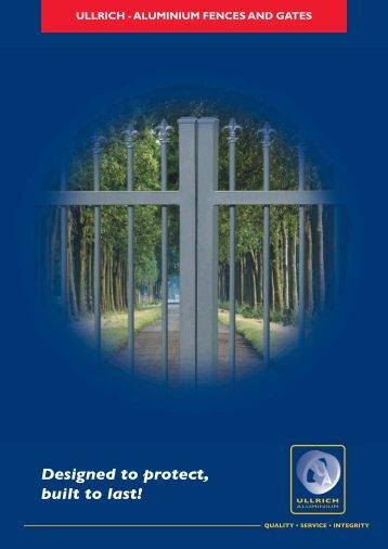 Fences & Gates - Ullrich Aluminium