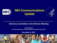 Communications Plan Update - Advisory Committee to the Director