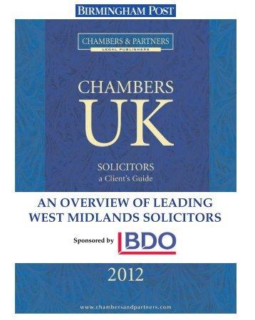 Birmingham Post - Chambers and Partners