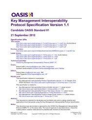 Key Management Interoperability Protocol Specification Version 1.1