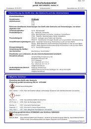 Sicherheitsdatenblatt PU-Binder NEVOLIT - VIA-DACHTEILE