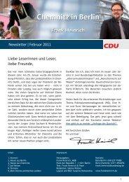 Newsletter | Februar 2011 Liebe Leserinnen und ... - Frank Heinrich
