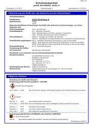 Sicherheitsdatenblatt QuiTex PD 60 Komponente B - via-Dachteile