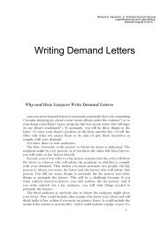 Writing Demand Letters (chapter)