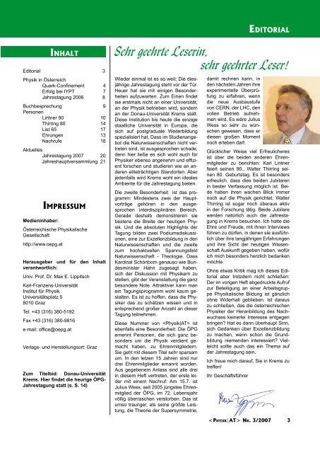 PersoNeN - Austrian Physical Society
