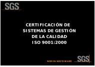 certificación de sistemas de gestión de la calidad iso 9001:2000 ...