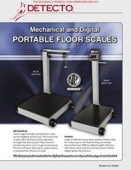 detecto portable floor scales - Scale Manuals