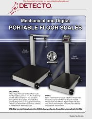 detecto portable floor scales - Scale Manuals