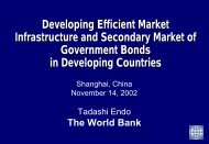 Developing Efficient Trading Systems and Secondary ... - World Bank