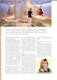 Radiologie – high-tech zum Wohle des Patienten