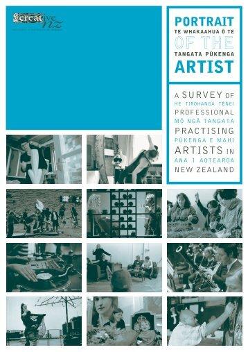 Portrait of the artist - Creative New Zealand