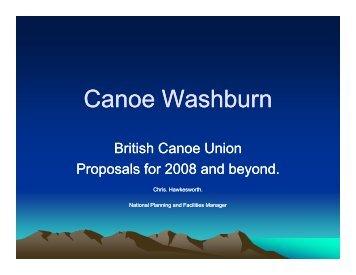 Washburn Presentation 1 - Canoe England