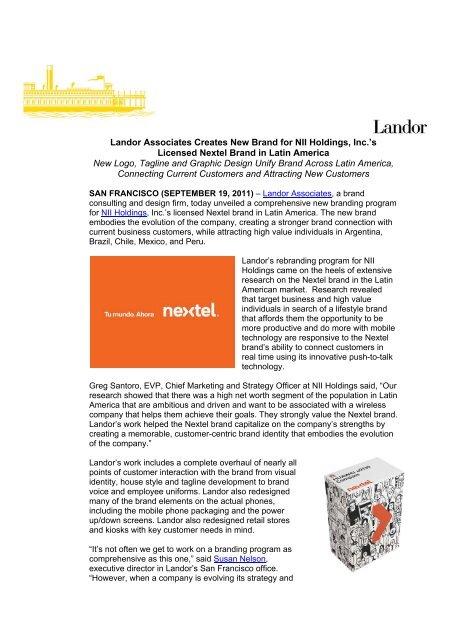 Landor Associates Creates New Brand for NII Holdings, Inc 's