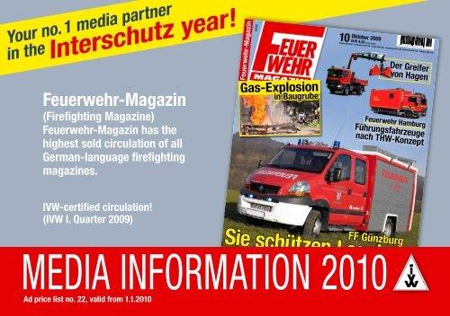 Media inforMation 2010 - Feuerwehr-Magazin