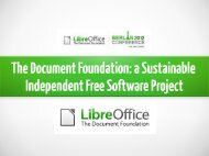 The Document Foundation - LibreOffice Conference