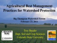 Agricultural Best Management Practices for Watershed Protection ...
