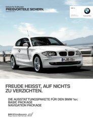 BMW 1er NAVIGATION PACKAGE. - Walkenhorst