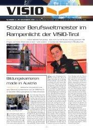 Stolzer Berufsweltmeister im Rampenlicht der VISIO-Tirol