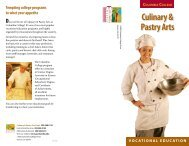 Culinary & Pastry Arts COLUMBIA COLLEGE vocational education ...