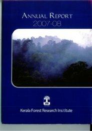 2007-'08 - Kerala Forest Research Institute