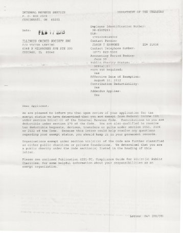Sister Song Inc Irs 501c3 Letter Of Determination