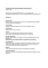 CLASSIFICATION FOR NON-FERROUS SCRAP METALS (Edition ...