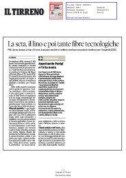 La seta, il lino e poi tante fibre tecnologiche - Comune di Firenze