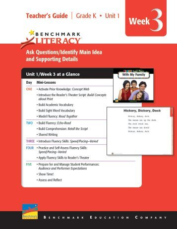 Literacy - Benchmark Resources - Benchmark Education Company