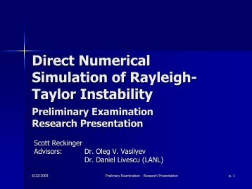 Direct Numerical Simulation of Rayleigh-Taylor Instability [PDF]