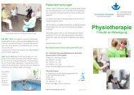 Flyer Physiotherapie - St.-Vincentius-Krankenhaus Speyer