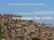 April 30, 2011 Hydrogeologic Tour of SSFL - ETEC