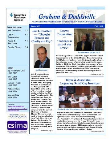 Graham & Doddsville - Columbia Business School