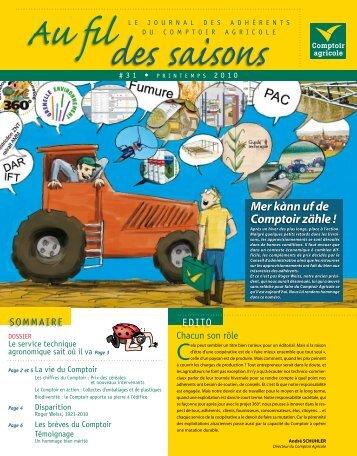 Fil Des Saisons #31 Printemps 2010 - Comptoir Agricole