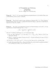 8. ¨Ubungsblatt zur Vorlesung Varietäten
