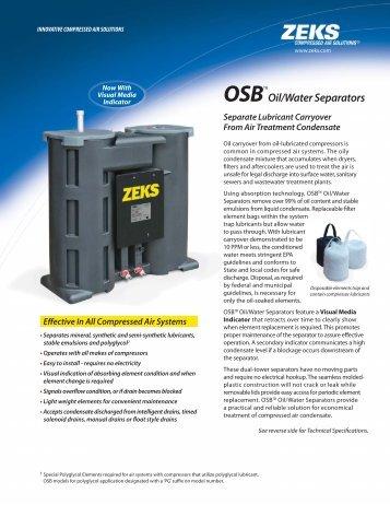 OSB Oil/Water Separator Catalog - ZEKS Compressed Air Solutions