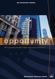 Hauptprospekt MPC Opportunity Amerika II - ohne-agio